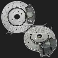 Ventilated Front Disc Brakes Enlarged Brake Pads Kit R15 LADA 2101-2107 RIVA