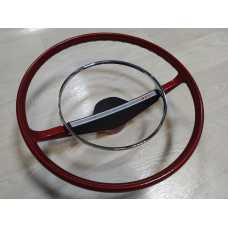 Red Steering Wheel With Chrome Ring LADA 2101 2102