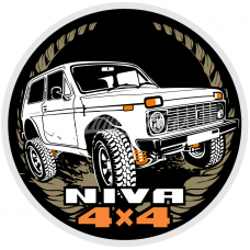 LADA NIVA Avtoexport Dealership Sticker LADA 2121 21213 21214 2131 4x4 Urban WHT
