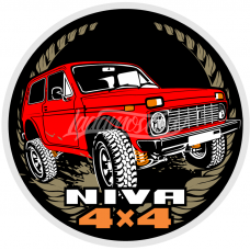 LADA NIVA Avtoexport Dealership Sticker LADA 2121 21213 21214 2131 4x4 Urban RED